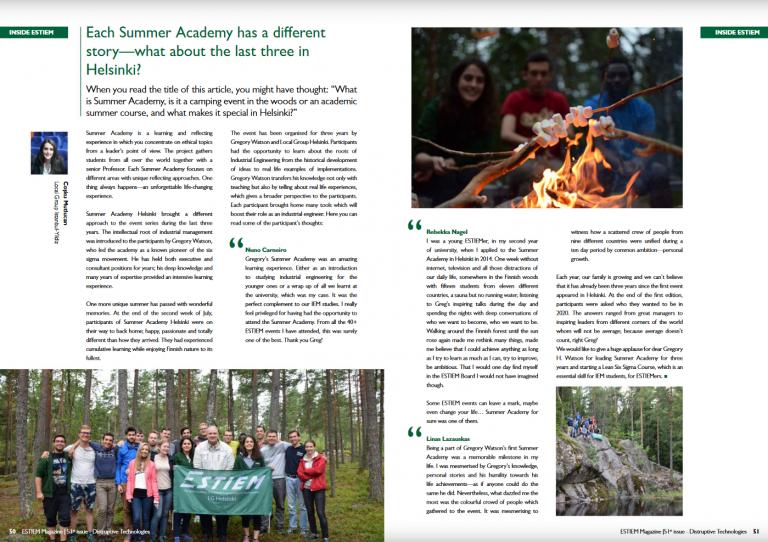 Summer Academy in Helsinki